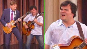 After A Fierce Guitar Battle, Conan O'Brien & Jack Black Get The Surprise Of A Lifetime