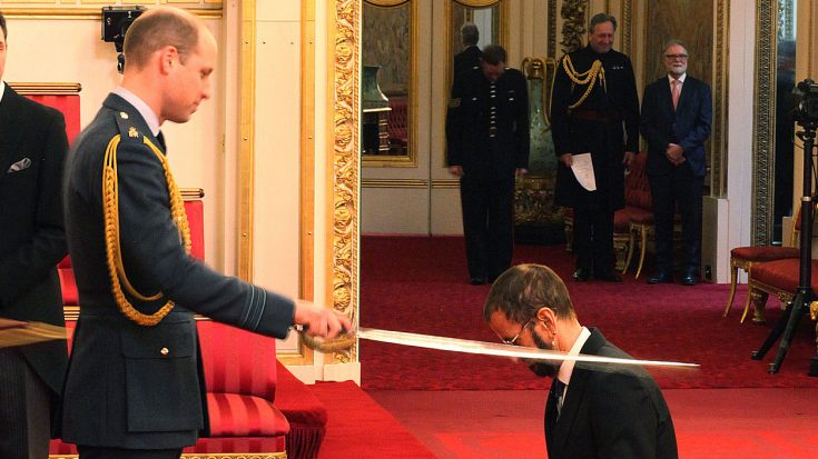 Ringo Starr Becomes Rock And Roll Royalty After Being Knighted By Prince William | Society Of Rock Videos