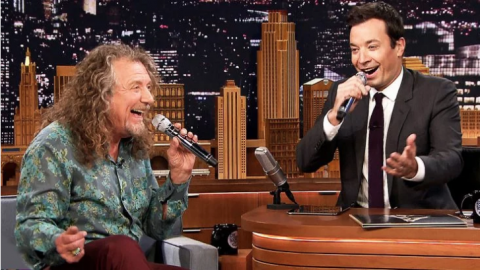 Robert Plant & Jimmy Fallon Sing An On-The-Spot Doo Wop Hit And The Crowd Loses Their Minds! | Society Of Rock Videos