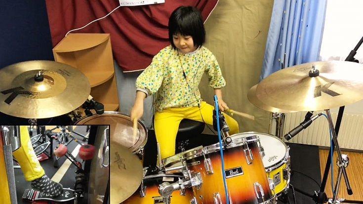 """8-Year-Old Drummer Channels John Bonham For Thunderous """"Good Times, Bad Times"""" Cover 