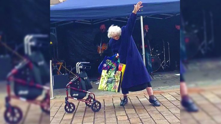 "Granny Hears AC/DC's ""Highway To Hell"" – Busts Out Some Pretty Sweet Dance Moves"