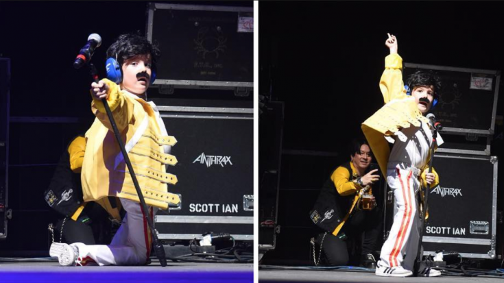 Little Freddie Mercury Hypes Up Crowd At Wembley – Too Cute! | Society Of Rock Videos