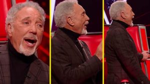 "Tom Jones Gets Up And Belts Out ""Great Balls Of Fire"" On The Voice"