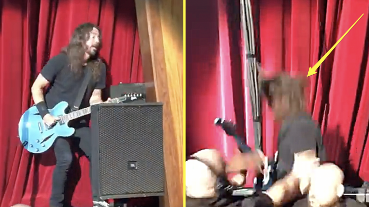 Dave Grohl Takes Hard Fall Off Stage – But It's What He Did After That Had The Crowd Cheering
