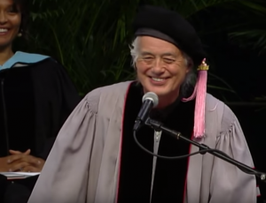 Jimmy Page Delivers Commencement Speech At University of Music