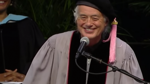 Jimmy Page Delivers Commencement Speech At University of Music | Society Of Rock Videos