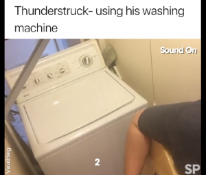 "Guy Played AC/DC's ""Thunderstruck"" Using His Washing Machine – Amazingly Entertaining"