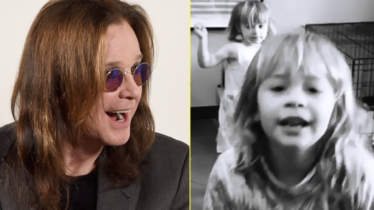 "Ozzy Osbourne's Grandbabies Sing ""Crazy Train"" To Cheer Him Up And It's Too Cute For Words 