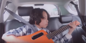 "Kid Plays ""Time"" By Pink Floyd – Nails It Completely Even Inside A Moving Car"