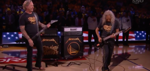 Metallica Performs National Anthem In Game 3 NBA Finals