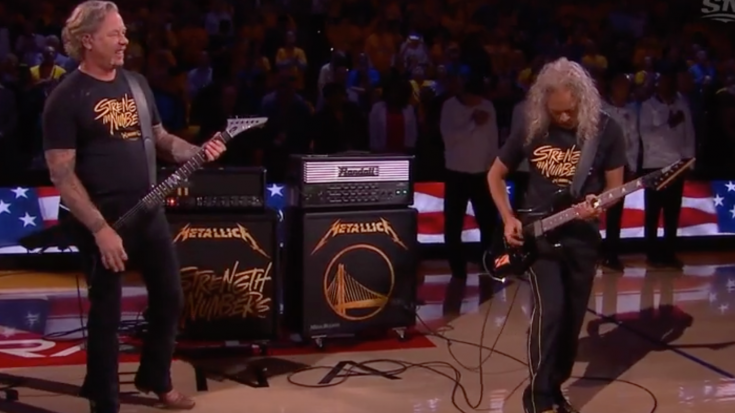 Metallica Performs National Anthem In Game 3 NBA Finals | Society Of Rock Videos
