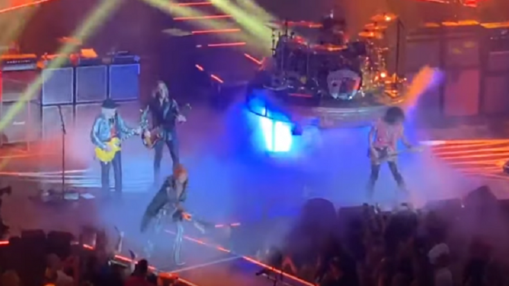 Steven Tyler Falls Off Stage During Show