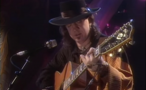 "Stevie Ray Vaughan Goes Live On MTV And Performs Acoustic ""Pride And Joy"""
