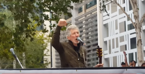 Roger Waters Performs in Rally For Julian Assange