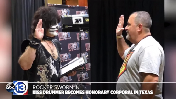 KISS Drummer Eric Singer Is Now An Honorary Police Officer | Society Of Rock Videos