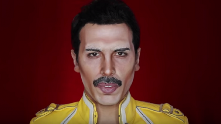 Watch This Guy Turn Himself Into Freddie Mercury With Make-Up