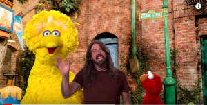 "Dave Grohl Sings With Big Bird & Elmo On ""Sesame Street"""