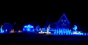Pink Floyd Christmas Light Display Videos