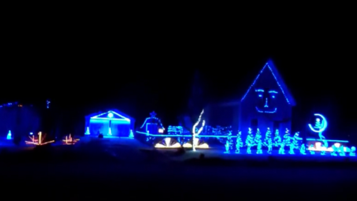 Pink Floyd Christmas Light Display Videos | Society Of Rock Videos