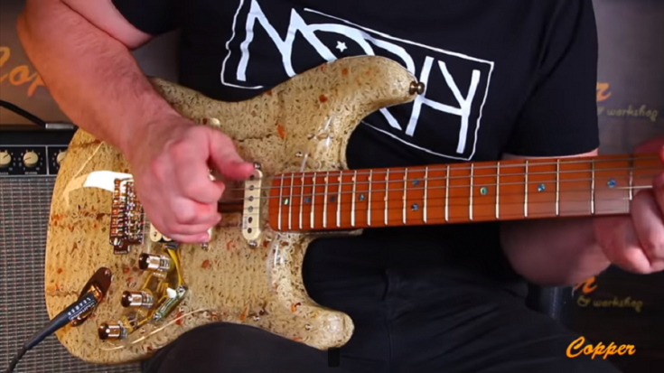 Guy Builds A Working Electric Guitar Out Of 36 Ramen Noodle Packs | Society Of Rock Videos