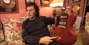 "Tony Iommi Reveals His New Signature ""Monkey"" Guitar Replica"