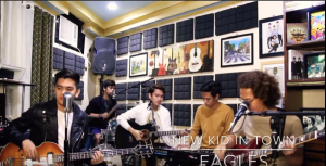 "Beatles Cover Band Performs ""New Kid In Town"" By The Eagles"