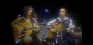"1976: Paul Simon & George Harrison Perform ""Homeward Bound"""