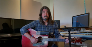 "Dave Grohl Performs ""My Hero"" In Living Room Concert"