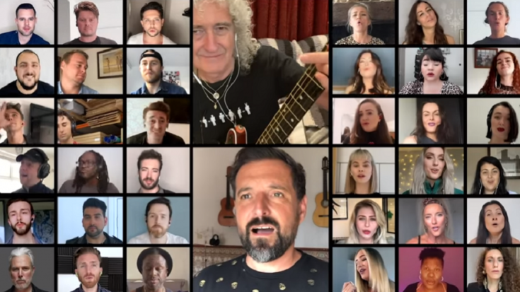 "Watch | Brian May Performs With ""We Will Rock You"" Cast 