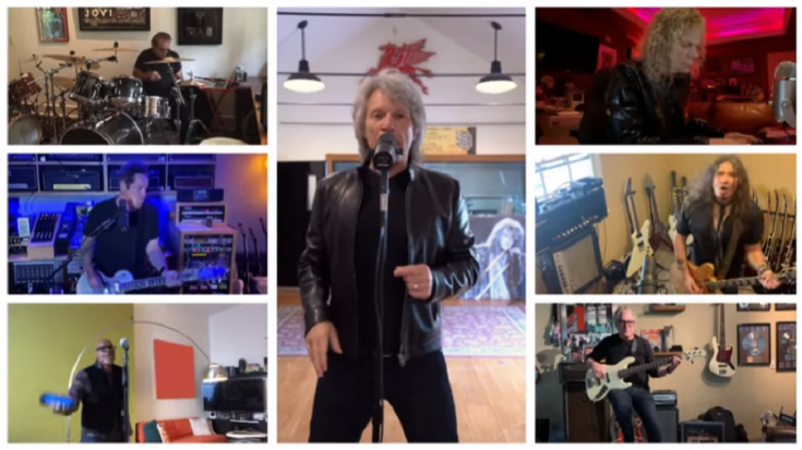 """Bon Jovi Performs Lockdown Version Of """"Limitless"""" In The Voice 