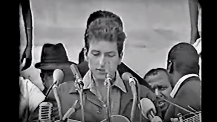 Relive The Time Bob Dylan Performed At The 1963 March on Washington | Society Of Rock Videos