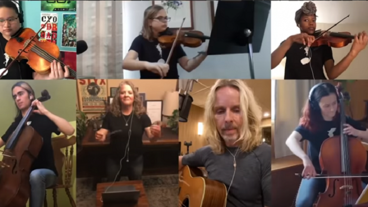 "Styx's Tommy Shaw Performs ""Fooling Yourself"" With Kids 