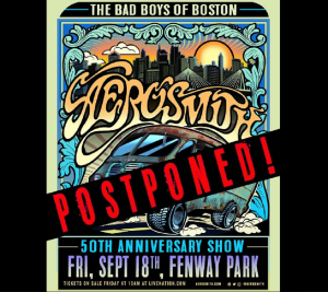 Aerosmith Postpones 50th Anniversary Concert At Fenway Park