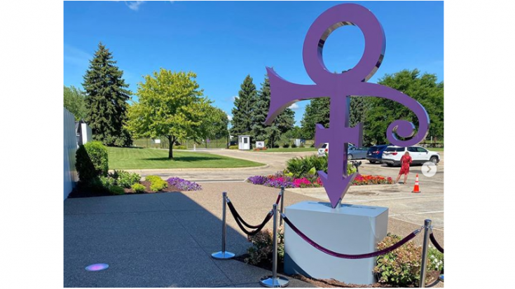 Prince's Iconic Love Symbol Now Stands In Paisley Park, Minnesota