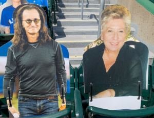 Geddy Lee Spotted At Blue Jays Game As Cardboard Cutout