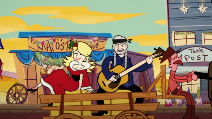 """Dolly Parton And Willie Nelson Are Animated In """"Pretty Paper"""" Music Video"""