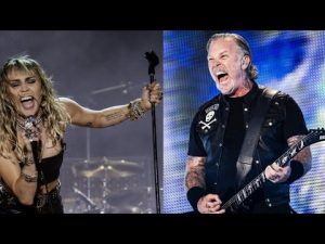 Metallica Teams Up With Miley Cyrus To Perform 'Nothing Else Matters'