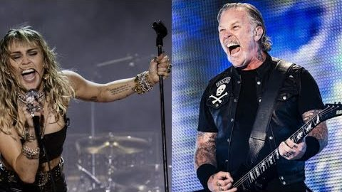 Metallica Teams Up With Miley Cyrus To Perform 'Nothing Else Matters'   Society Of Rock Videos