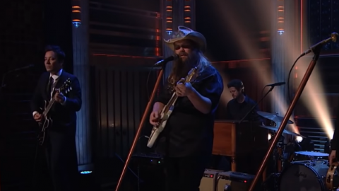"""Chris Stapleton Performs """"You Should Probably Leave"""" With Jimmy Fallon   Society Of Rock Videos"""
